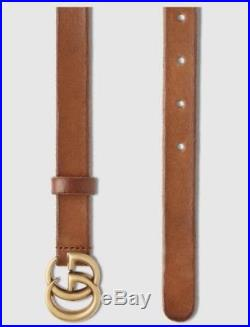 100% Authentic Gucci GG Leather Belt with GG buckle RRP $350 £315