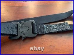 1017 ALYX 9SM Medium Rollercoaster Belt In Black