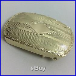 14k Yellow Gold Gorgeous Designed 1 Belt Buckle Mens Gift
