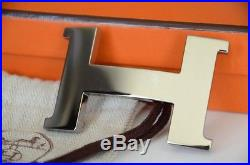 2016 Classic 42mm Hermès belt buckle H SILVER POLISHED Buckle CONSTANCE