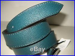 $295 NEW Versace Collection Men Green Leather 34 85 CM Belt Medusa Round Buckle