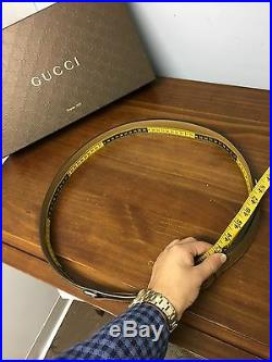 $420+Tx GUCCI Equestrian Belt Green/Red Web Detail Limited Edition 2017! 43