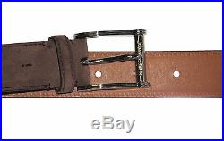 $450 Ralph Lauren Mens Made In Italy Suede Leather Single Prong Buckle Belt New