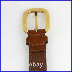 $495 New Gucci Light Brown Braided Leather Belt withgold Buckle 80/32 380606 2535