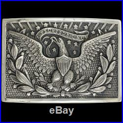 87g Sterling Silver Civil Indian War Army 1851 Officers Sword Plate Belt Buckle