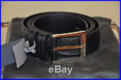 Authentic New Tom Ford Black Leather Buckle Belt