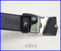 Auth New Mens Gucci Belt 424674 Bloom Gg Supreme Canvas Logo Buckle 80 / 32