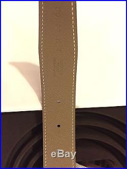 Authentic Brand New Hermes Noir/Etain Size 90 belt and buckle
