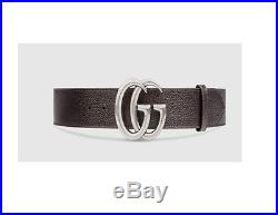 Authentic Brown Leather G Buckle Gucci Belt 100 size