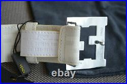 Authentic FENDI FF Buckle White Belt College Zucca 90 / 36 fits 30-32