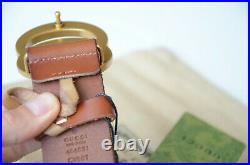 Authentic GUCCI MARMONT GOLD GG Buckle BROWN Belt size 90 / 36 fits 30-32