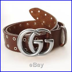 Authentic Gucci Belt Embossed belt with double G buckle 406831 BB9AN Size 105
