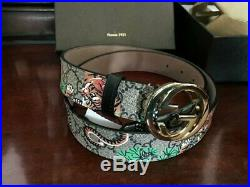 Authentic Gucci Men's Gold Buckle brown Leather Belt Size 95/38