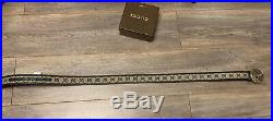 Authentic Gucci Men's Supreme Belt with Silver GG Buckle Size 30-32 Waist