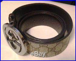 Authentic Gucci Supreme GG Buckle Belt Size 95.25cm 37.5 Inches Long