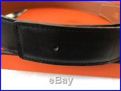 Authentic Hermes belt black gold with H buckle gold, 32mm / 72cm, men or women