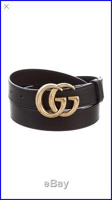 Authentic New Women Gucci Double GG Buckle Belt