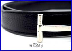 Authentic Tom Ford Classic 30mm T Bar Buckle Mens Leather Belt Black Size 40