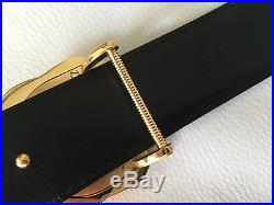 Authenticated Stefano Ricci genuine yellow gold buckle belt men luxury crocodile