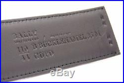 Bally B Buckle Black Calf Embossed Men's Leather Belt Size 40US FREE SHIPPING