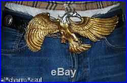 Beautiful Christopher Ross 1985© Silver & Gold American Bold Eagle Belt Buckle