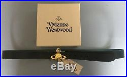 Brand New Mens Vivienne Westwood Orb Buckle Leather Belt. One Size. Bnwt & Box