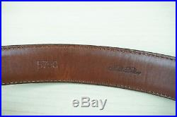 Brooks Brothers Genuine Shell Cordovan 5750 Solid Brass Buckle Belt Sz 36