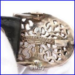 Chrome Hearts Classic Oval Cross Buckle Belt Leather x925 34 Black