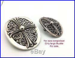 Chrome Hearts Large Classic Oval Buckle, 4.5 X3 HUGE! , $3200 Retail