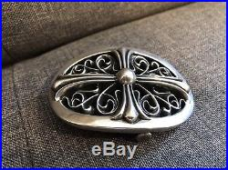 Chrome Hearts Oval Floral Cross Belt Buckle 1.5 used