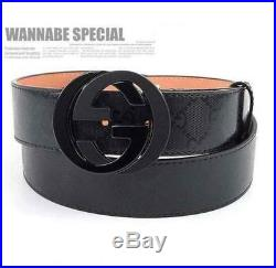 Classic Artificial Leather Vintage Belt Gucci Pattern Big G Alloy Hang Buckle