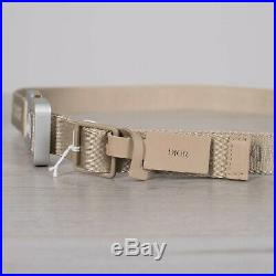 DIOR HOMME 710$ Beige Cotton Canvas Belt With New CD Tactical Buckle