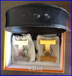Dexter Fowler Personal Items Collections-Auth HERMES Constance H Buckle Belt 95