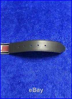 Fendi Mens Forever Logo Buckle Belt In Red And Size 34/85 Brand New With Tag