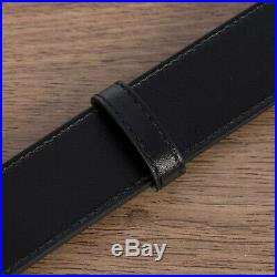 GUCCI 460$ Black 30mm GG Marmont Leather Belt With Shiny Buckle