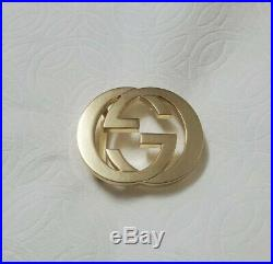 GUCCI Belt Buckle Only 2.5 GG emblem Gold Original Authentic Beautiful
