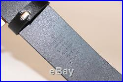 3f7bf331b81 GUCCI Leather Belt With Snake buckle size 105 42 with box and bag brand new