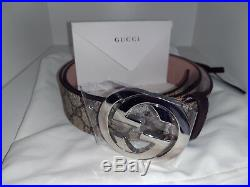 GUCCI Supreme belt with G buckle Authentic, Medium size 95