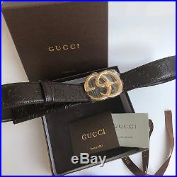 GUCCI belt with Double G buckle with snake