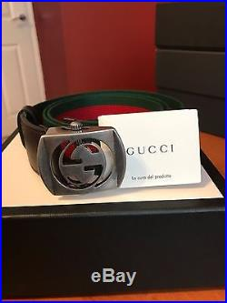 Givenchy Buscemi Versace Medusa GG Canvas belt with cut out G buckle Brand new