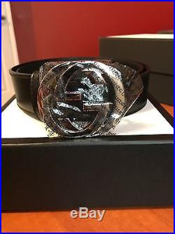 Givenchy Versace medusa Buscemi GG Leather belt with interlock G buckle brandnew