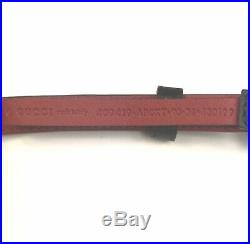 Gucci #409419 Angry Cat Buckle Black Leather Studded Belt, 90-36, NWT