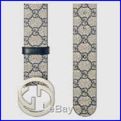 Gucci Authentic Beige/blue GG Supreme canvas with G buckle size 90