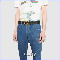 Gucci Authentic Leather belt with Double G buckle with snake size 90