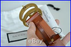 Gucci Belt Brown Leather Marmont Gold GG Buckle size 105 fits 36-38