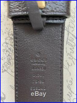 Gucci Brown Leather Belt with Double G Buckle 75cm