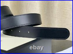 Gucci GG Gold Buckle Black Leather Mens Belt 414516 CWC1N Size 85-34 Authentic