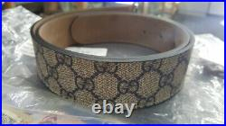 Gucci GG Supreme Marmont leather belt Without Buckle