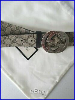Gucci GG Supreme Men's belt with G buckle