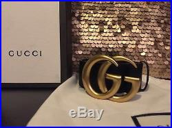 Gucci Gold Buckle Belt 100cm 40in Fits 34-36 Mens Waist (unisex)